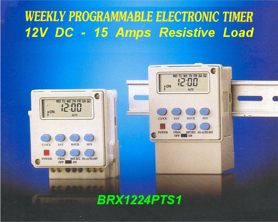 12v Dc Programmable Timer Switch Solar Brx1224pts1 Brazix