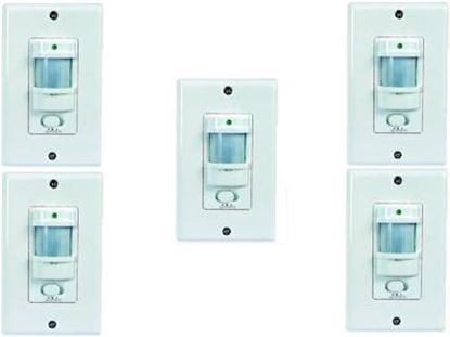 Picture of Infrared Motion Sensor Occupancy Wall Switch  - 5 Pack